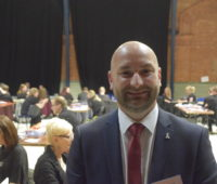 Marc Jones, Lincolnshire Police and Crime Commissioner at the Drill Hall, 6 May 2016 (Photo: Gregor Smith)