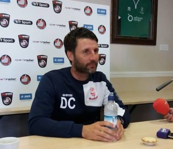 Cowley will hope his side can make it thirteen games unbeaten tonight against York City. (Photo: Kieran Hymus)