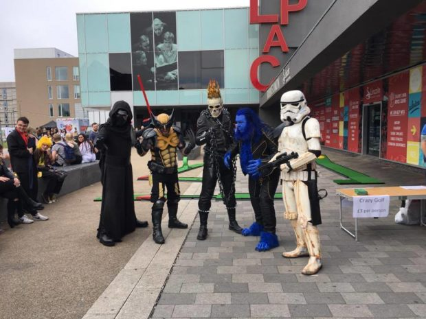 Lincoln's cosplayers strut their stuff. Photo: Jamie Sleep