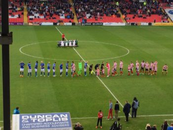 Lincoln City facing Eastleigh. Photo: Ryan Petterson
