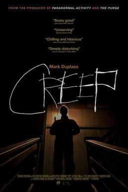 The official poster for the film Creep starring Patrick Brice and Mark Duplass. Photo: Sony pictures Entertainment