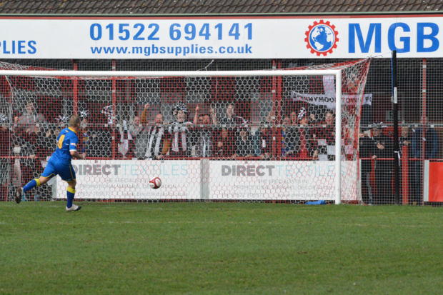 Dowson double's Spennymoor's lead.(Photo Credit: Danny Adamson)