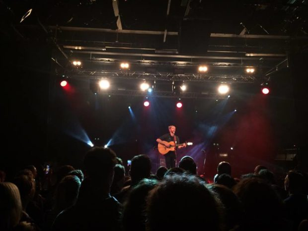 Newton Faulkner on stage at the Engine Shed. Photo: Sara Needham
