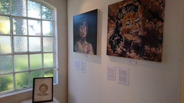 Artwork at the exhibition features inspirational Lincolnshire women. Photo: Nathan Speller