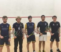 The University of Lincoln Squash Team beat Derby's 3rds 5-0