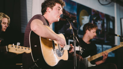 Circa Waves playing an acoustic set