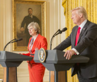 Prime Minister Theresa May and Donald Trump
